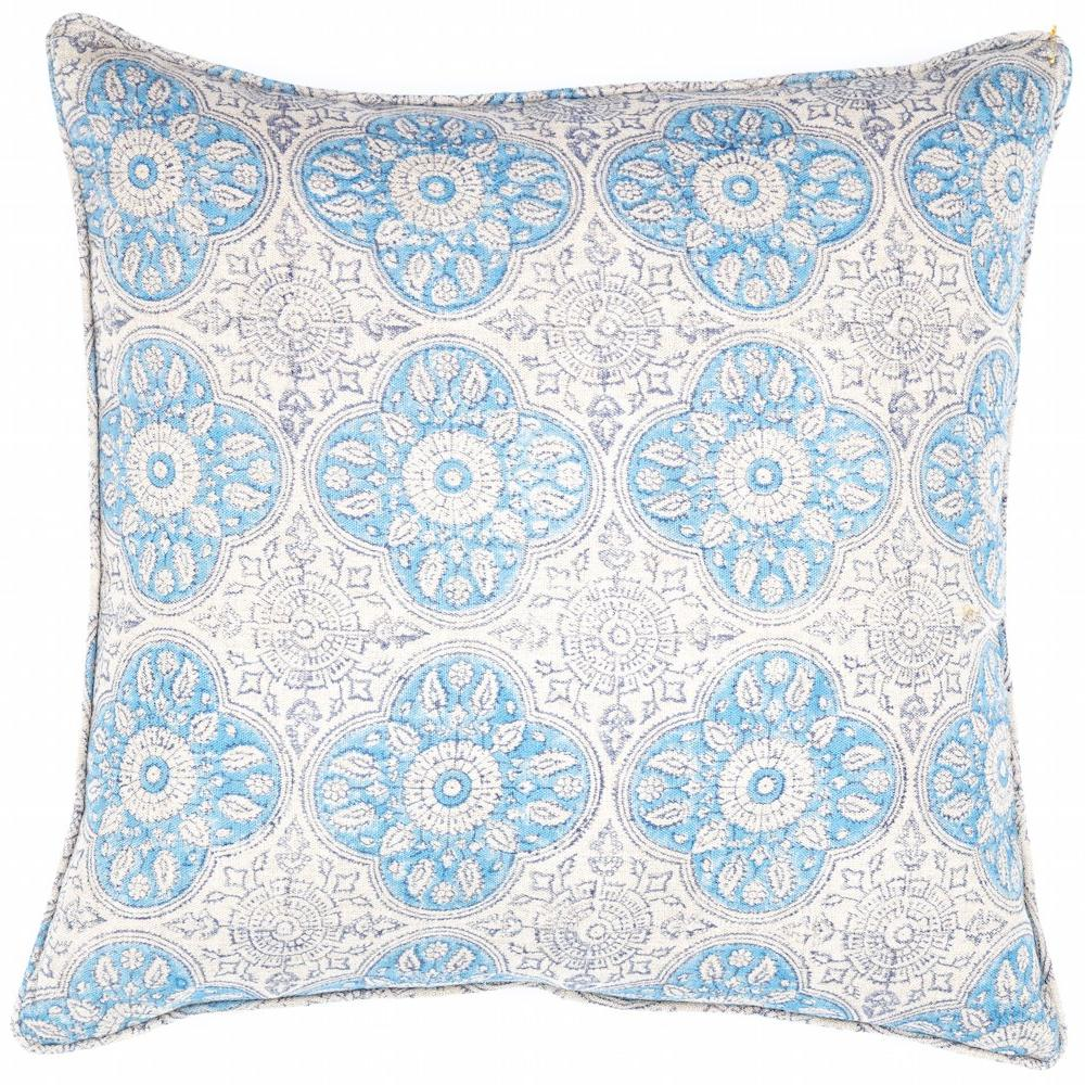Hand block printed cushion fabric Designed by Rachel Elizabeth Interior Design and Textiles in Brisbane Queensland Australia