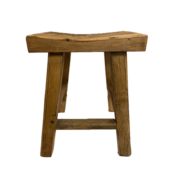 CONCAVE STOOL NATURAL ELM