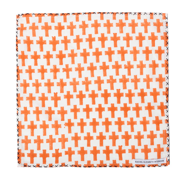 Cotton Napkin Design: Tuscan Orange S/4
