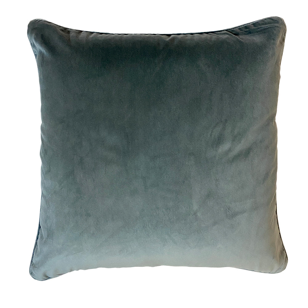 VELVET CUSHION - EUCALYPTUS
