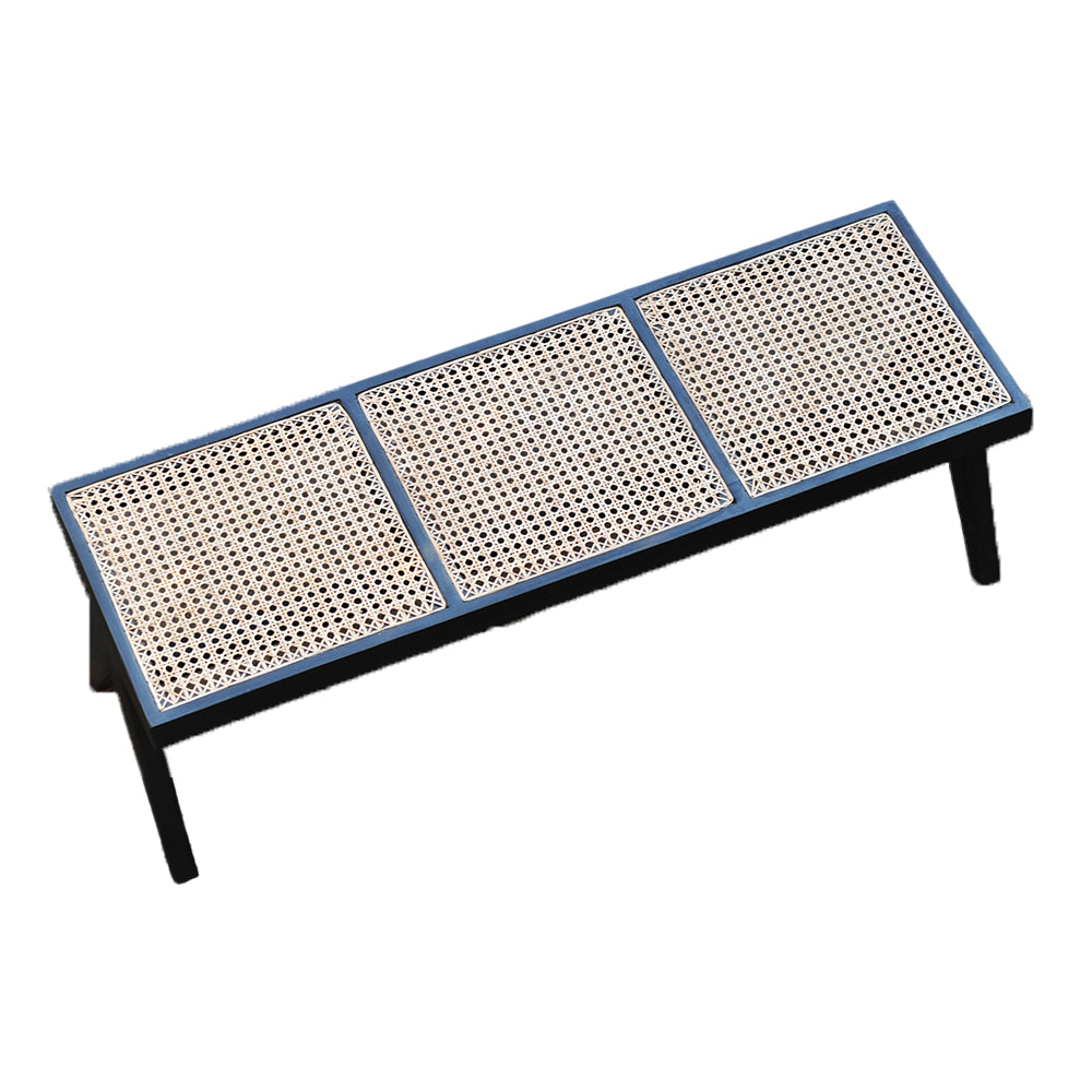 CANE BENCH - BLACK