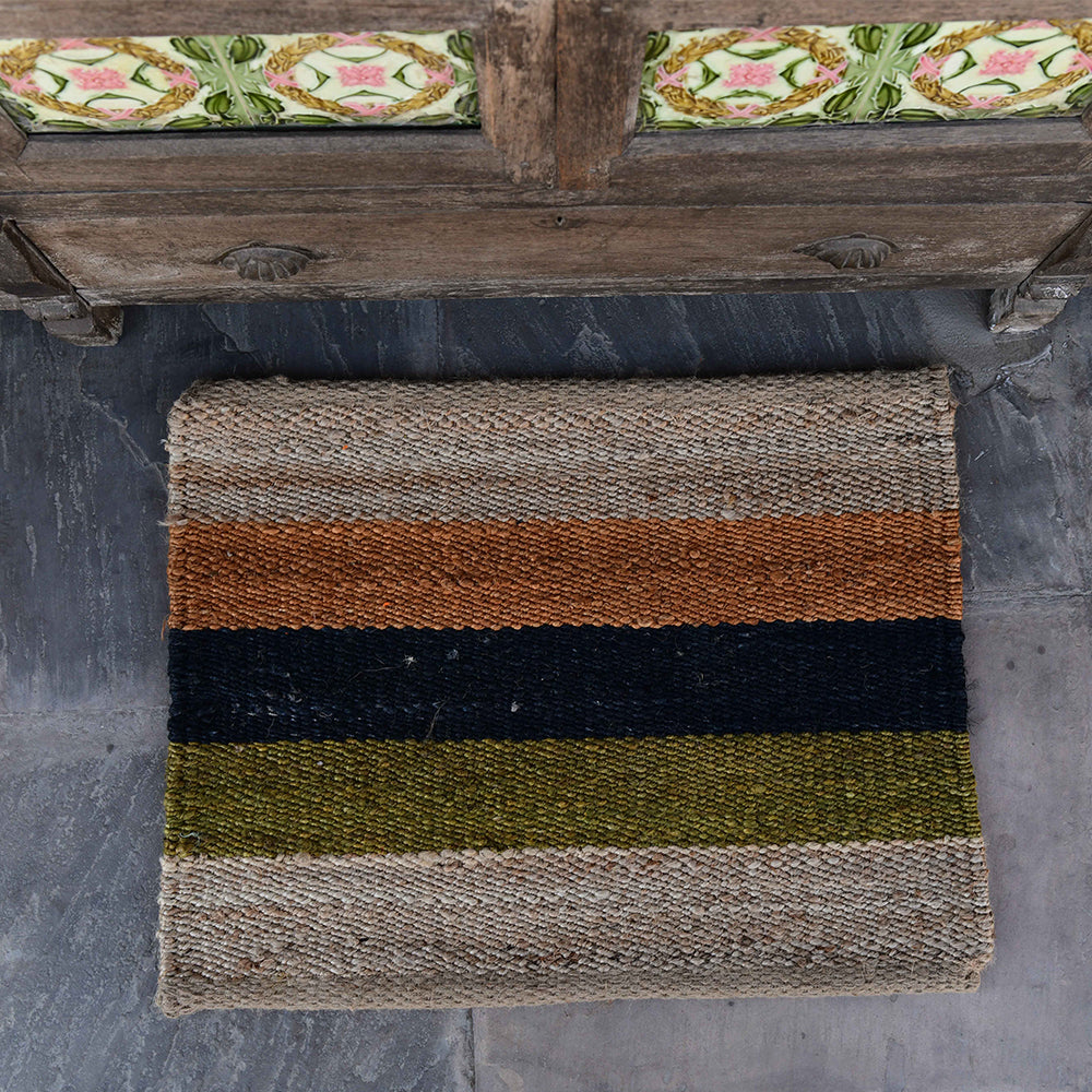 Hand-Woven Jute Doormat - The Cape Cod