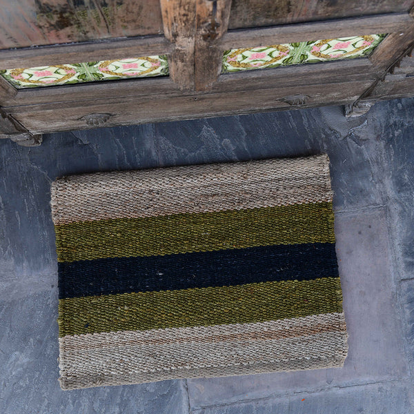 Hand-Woven Jute Doormat - The Surfside