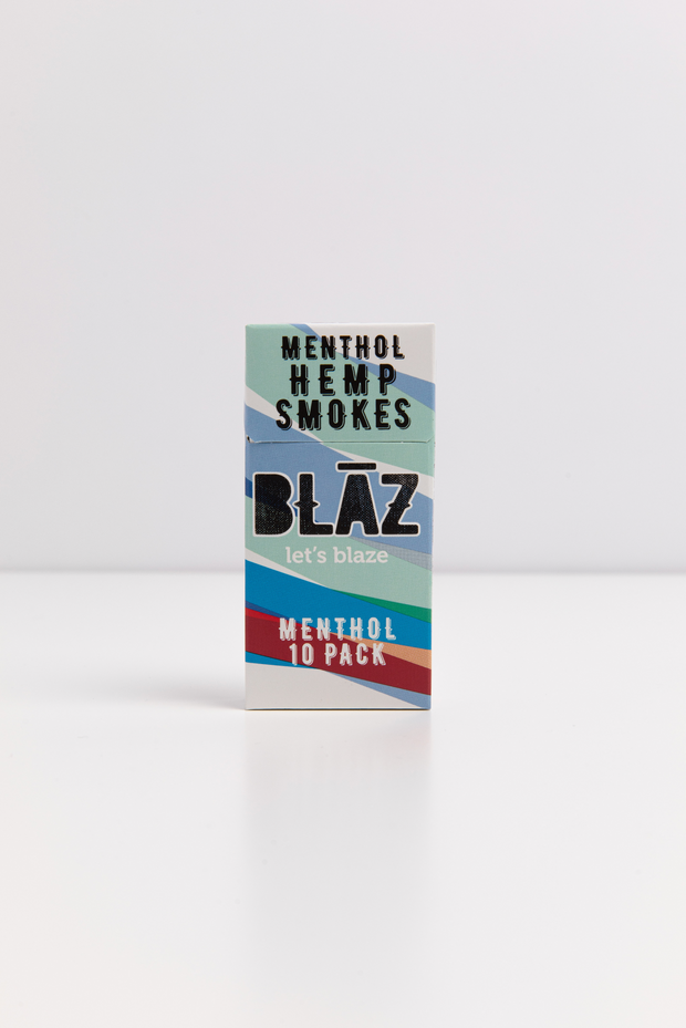 10 Pack Premium Menthol Hemp Smokes