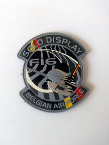 F-16 SOLO DISPLAY Belgian A.F. PVC PATCH