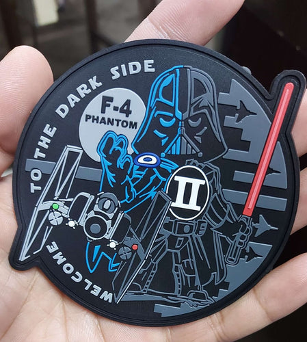 WELCOME TO THE DARK SIDE BLUE F-4 PHANTOM II PVC PATCH