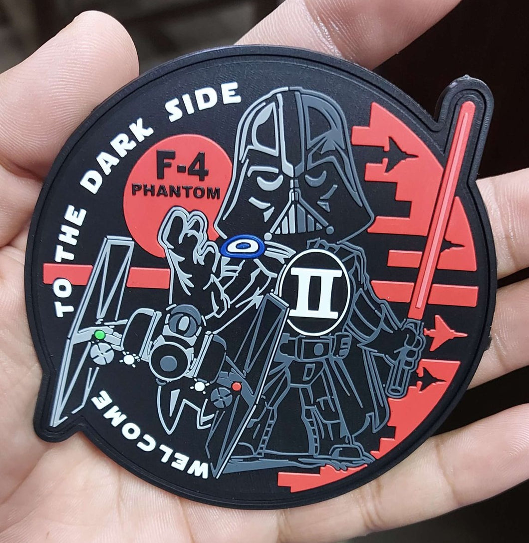 WELCOME TO THE DARK SIDE RED F-4 PHANTOM II PVC PATCH