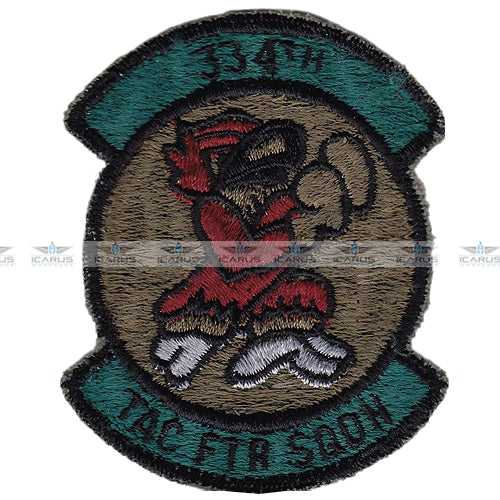 USAF 334th TAC FTR SQDN Seymour-Johnson AFB North Carolina patch