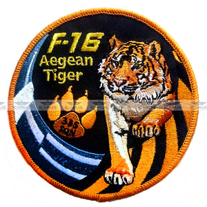 "HELLENIC AIR FORCE 335 SQN ""AEGEAN TIGER"" F-16 PILOT PATCH"
