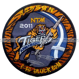 "NTM 2011 HELLENIC AIR FORCE F-16 BLOCK 52M 335 SQN ""TIGER ARMANENT"" PILOT PATCH"