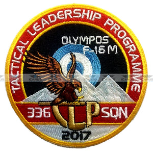 "HELLENIC AIR FORCE TLP 2017 336SQN ""OLYMPOS"" F-16M PILOT PATCH"