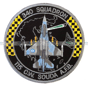 "HELLENIC AIR FORCE 340SQN ""FOX"" F-16 PILOT PATCH 115CW SOUDA AFB"