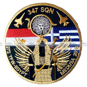 HELLENIC AIR FORCE 347SQN MEDUSA EXERCICE 2018 F-16 PILOT PATCH