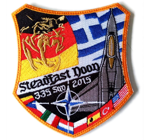 HELLENIC AIR FORCE 335SQN TIGER STEADFAST DOON 2015 EXERSICE PATCH