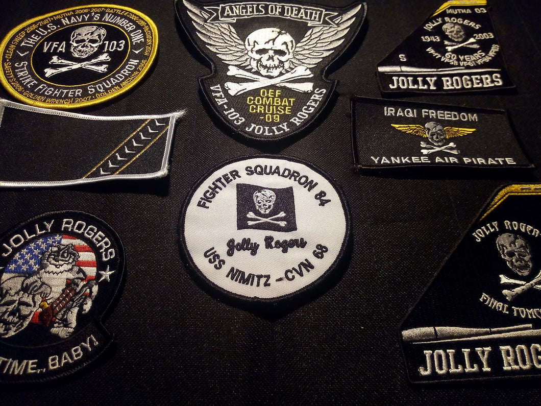 F-14 Tomcat Jolly Rogers Patch Lot 8 VFA Mutha VF-84 60 Years Hornet VF-103 USN