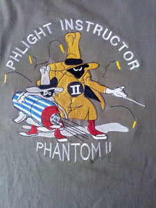 "F-4 PHANTOM ""PHLIGHT INSTUCTOR"" EMBROIDERY T-SHIRT"