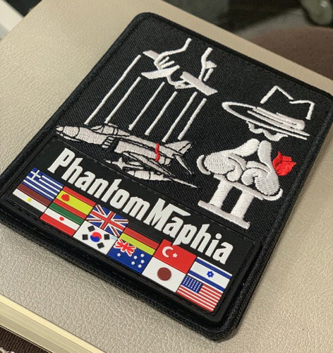 PRE-ORDER F-4 PhantomMaphia LIMITED EDITION COMBINED PVC & EMBROIDERED PATCH + STICKER