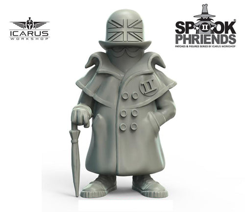 PRE-ORDER UK SPOOK MASCOT 90mm RESIN FIGURE AND PVC PATCH