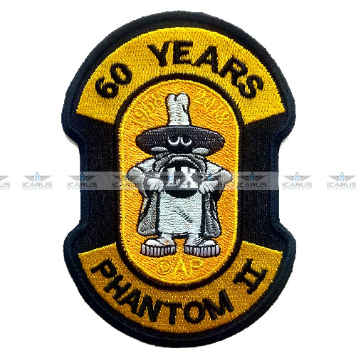 60 YEARS F-4E PHANTOM II ANNIVERSARY PATCH