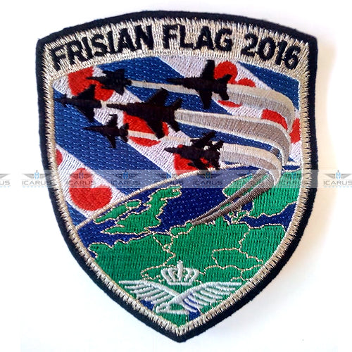 NATO Exercise Frisian Flag 2016 Leeuwarden Air Base RNLAF Patch