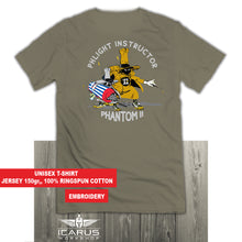 "Load image into Gallery viewer, F-4 PHANTOM ""PHLIGHT INSTUCTOR"" EMBROIDERY T-SHIRT"