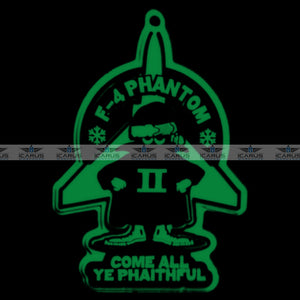"""COME ALL YE PHAITHFUL"" CHRISTMAS  F-4 PHANTOM II PVC PATCH"