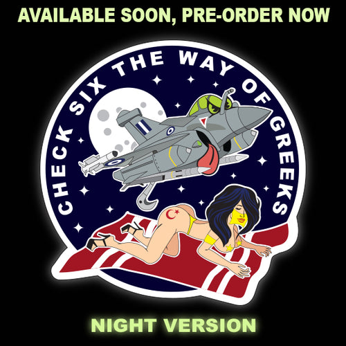 PRE-ORDER CHECK SIX THE WAY OF GREEKS NIGHT VERSION PVC PATCH