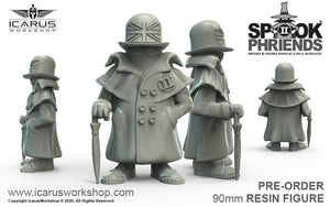 UK SPOOK MASCOT 90mm RESIN FIGURE AND PVC PATCH