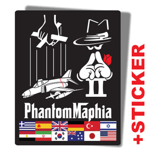 F-4 PhantomMaphia LIMITED EDITION COMBINED PVC & EMBROIDERED PATCH + STICKER