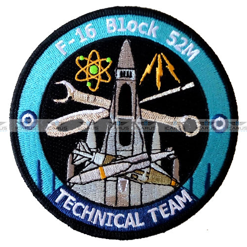 HELLENIC AIR FORCE 116CW F-16 BLOCK 52M TECHNICAL TEAM PATCH