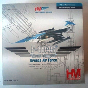 "Hobby Master 1/72 Air Power Series F-104G ""Olympus"" Hellenic (Greece) Air Force"