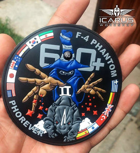 60+ F-4 PHANTOM LIMITED EDITION PVC PATCH No 10