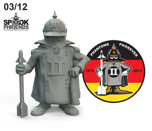 PRE-ORDER GERMAN SPOOK MASCOT 90mm RESIN FIGURE AND PVC PATCH