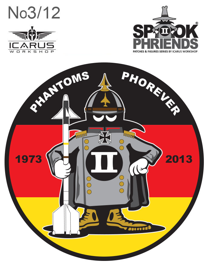 PRE-ORDER GERMAN SPOOK MASCOT PVC PATCH No 03/12