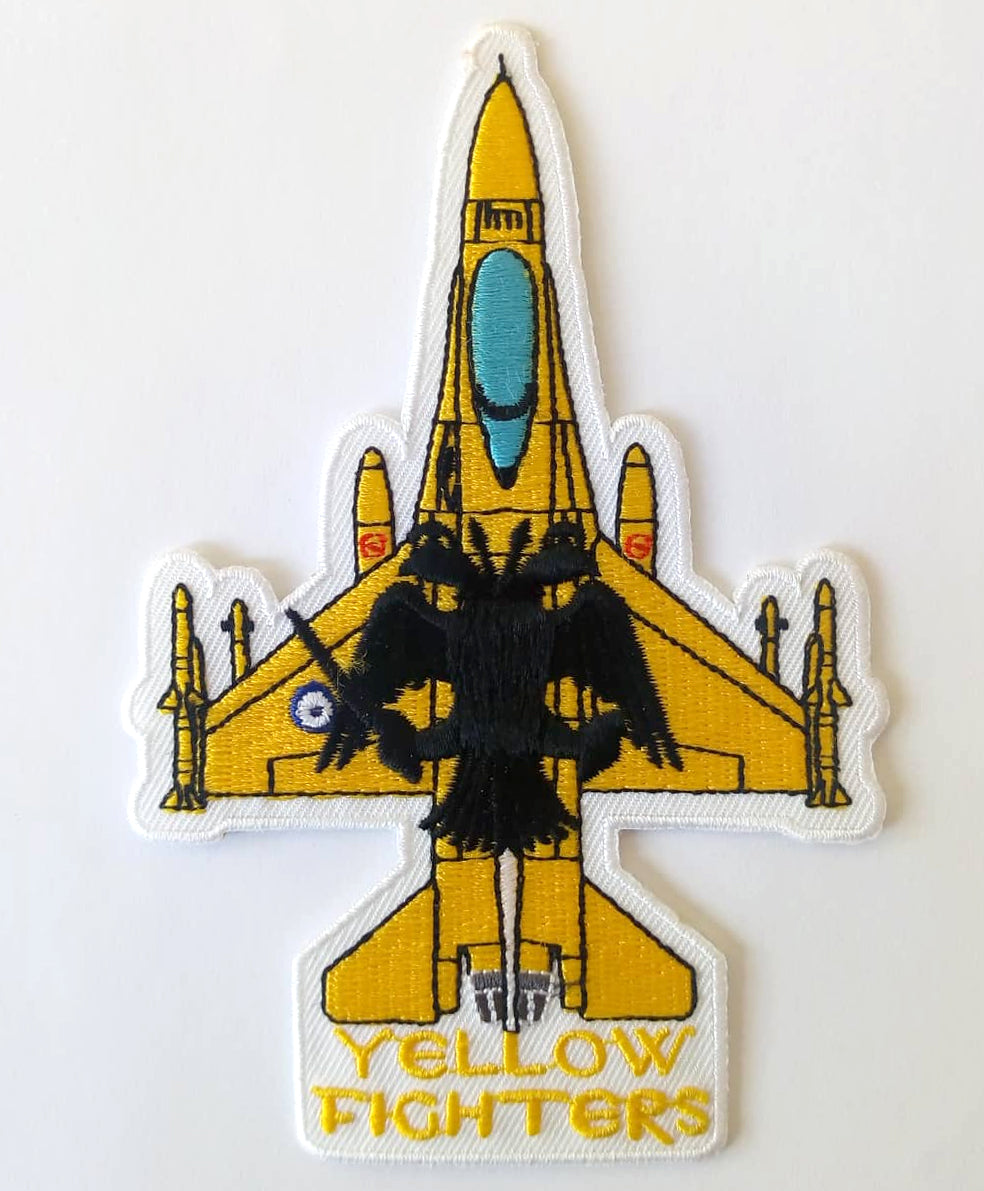 F-16 YELLOW FIGHTERS (AEK FC) SILHOUETTE PATCH