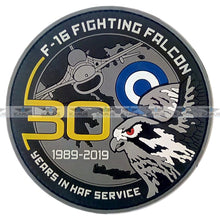 Load image into Gallery viewer, 49. F-16 FIGHTING FALCON 30 YEARS IN HAF SERVICE ANNIVERSARY COIN AND PATCHES
