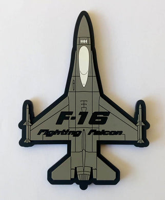 F-16 FIGHTING FALCON SILHOUETTE PVC PATCH