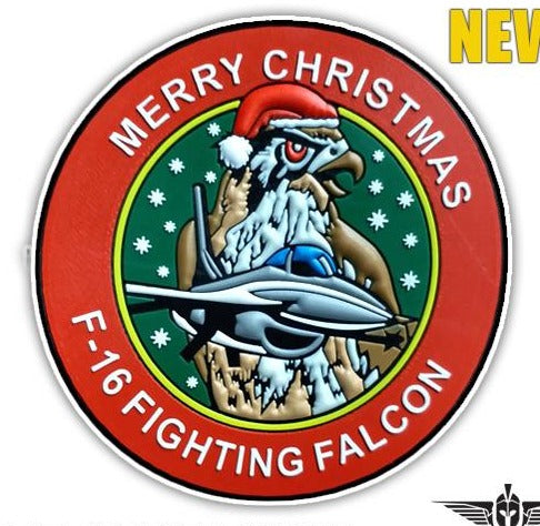 F-16 FIGHTING FALCON MERRY CHRISTMAS LIMITED EDITION PVC PATCH