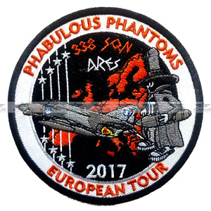 "HELLENIC AIR FORCE 338SQN ""ARES"" EUROPEAN TOUR F-4E PHANTOM PILOT PATCH"