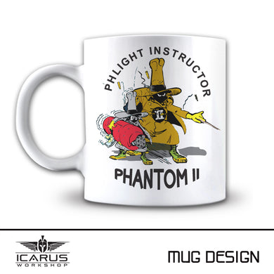 PHLIGHT INSTRUCTOR F-4 PHANTOM MUG