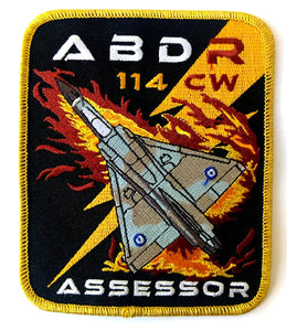 ABDR 114CW MIRAGE 2000 ASSESSOR PILOT PATCH