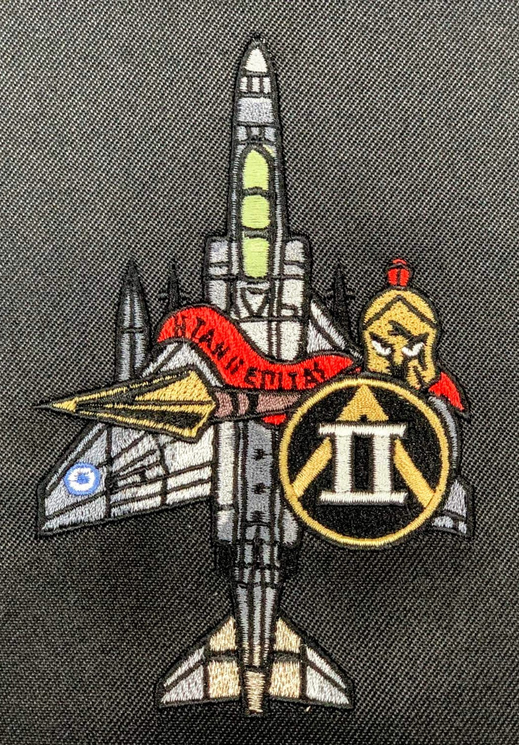 F-4 PHANTOM HAF SILHOUETTE EMBROIDERED PATCH