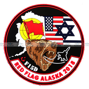 RED FLAG ALASKA 2018 PVC SET PATCHES
