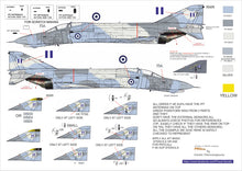 Load image into Gallery viewer, F-4E AUP ROUNDELS AND NUMBERS (338SQN/339SQN, HAF)