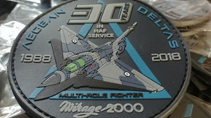 "ORIGINAL PILOT PATCH MIRAGE 2000 ""30 YEARS IN HAF SERVICE"""