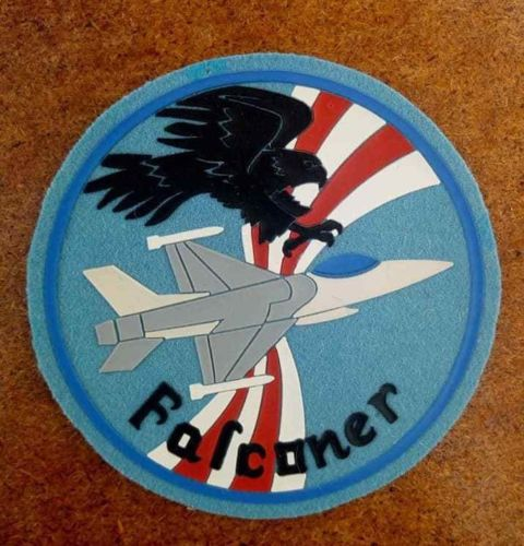 ORIGINAL AF SQN PILOT PATCH USAFE TORREJON 401 TFW F-16 FALCONER PVC