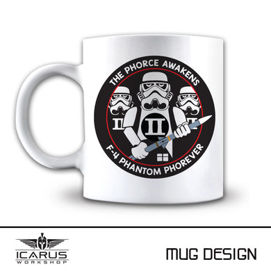 THE PHORCE AWAKENS F-4 PHANTOM MUG