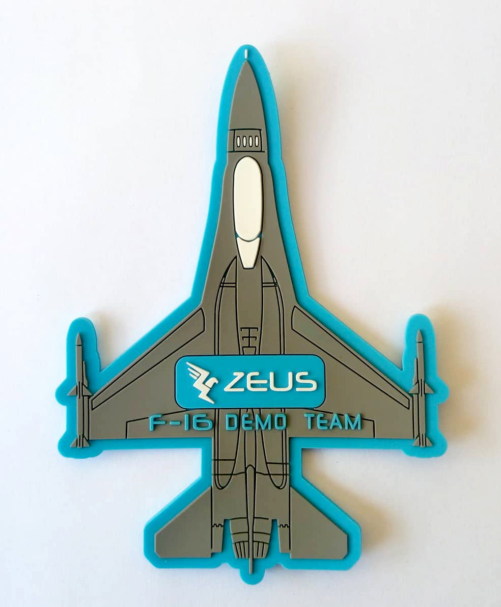 F-16 DEMO TEAM ZEUS SILHOUETTE PVC PATCH