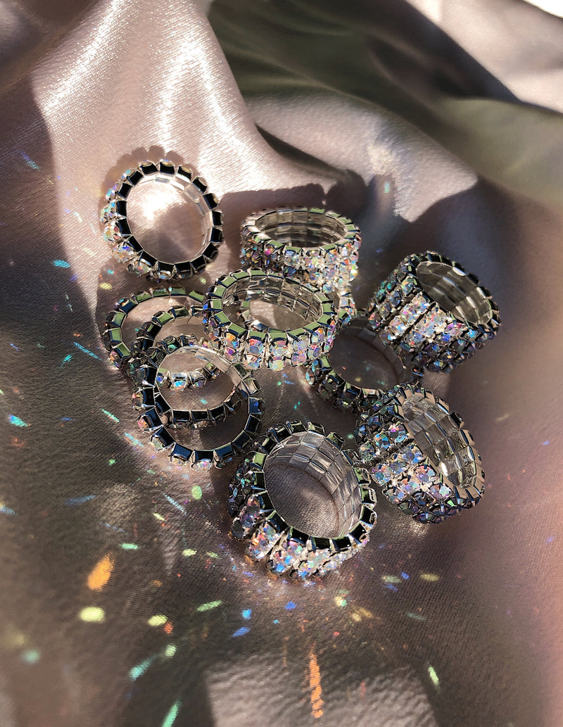 Diamanté Rings - Crystal AB