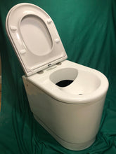 Load image into Gallery viewer, Deluxe Compost toilet with integrated urine diverter 12v self stirring